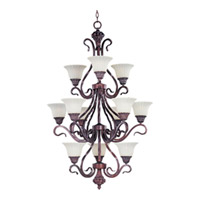 Maxim Lighting Via Roma 12 Light Multi-Tier Chandelier in Greek Bronze 2778SVGB