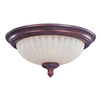 Maxim Lighting Via Roma 2 Light Flush Mount in Greek Bronze 2780SVGB