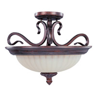 Maxim Lighting Via Roma 2 Light Semi Flush Mount in Greek Bronze 2781SVGB