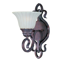 Maxim Lighting Via Roma 1 Light Wall Sconce in Greek Bronze 2786SVGB