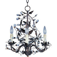 Elegante 3 Light 19 inch Oil Rubbed Bronze Mini Chandelier Ceiling Light