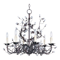 Elegante 6 Light 27 inch Oil Rubbed Bronze Single Tier Chandelier Ceiling Light