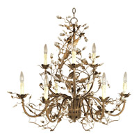 Elegante 9 Light 29 inch Etruscan Gold Multi-Tier Chandelier Ceiling Light