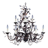 Elegante 9 Light 29 inch Oil Rubbed Bronze Multi-Tier Chandelier Ceiling Light