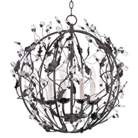 Elegante 4 Light 22 inch Oil Rubbed Bronze Entry Foyer Pendant Ceiling Light