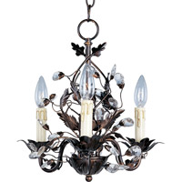 Elegante 3 Light 14 inch Oil Rubbed Bronze Mini Chandelier Ceiling Light
