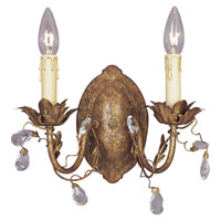 Maxim Lighting Elegante 2 Light Wall Sconce in Etruscan Gold 2857EG