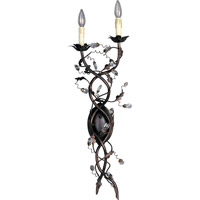 Elegante 2 Light 11 inch Oil Rubbed Bronze Wall Sconce Wall Light