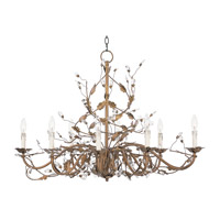Maxim Lighting Elegante 8 Light Chandelier in Etruscan Gold 2860EG