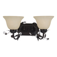 Elegante 2 Light 18 inch Oil Rubbed Bronze Bath Light Wall Light in 17.5 in.