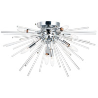 Maxim 28660CLPC Polaris 8 Light 25 inch Polished Chrome Flush Mount Ceiling Light