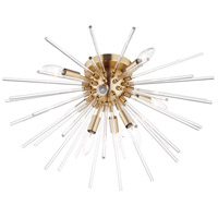 Maxim 28660CLSBR Polaris 8 Light 25 inch Satin Brass Flush Mount Ceiling Light