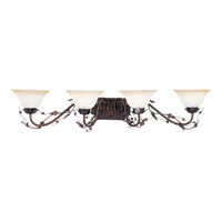 Elegante 4 Light 39 inch Oil Rubbed Bronze Bath Light Wall Light in 38.5 in.