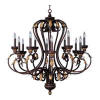 Maxim Monaco 12 Light Multi-Tier Chandelier in Windsor Bronze 2897WB photo thumbnail
