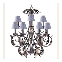 Maxim Lighting Signature 12 Light Multi-Tier Chandelier in Grecian Gold 2908GG/SHD01