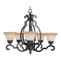 Maxim Lighting Southern 5 Light Single Tier Chandelier in Kentucky Bronze 2934LTKB
