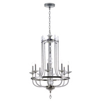 Maxim 30007CLPN Paris 8 Light 32 inch Polished Nickel Single-Tier Chandelier Ceiling Light