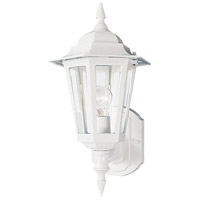 Builder Cast 1 Light 15 inch White Outdoor Wall Mount