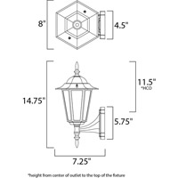 Maxim Lighting Builder Cast 1 Light Outdoor Wall Mount in White 3000CLWT alternative photo thumbnail