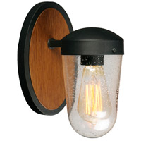 Maxim 30011CDAPBK Lido 1 Light 9 inch Antique Pecan and Black Outdoor Wall Mount
