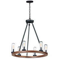 Maxim 30016CDAPBK Lido 6 Light 24 inch Antique Pecan and Black Outdoor Chandelier