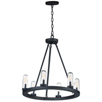 Maxim 30016CDBK Lido 6 Light 24 inch Black Outdoor Chandelier