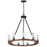 Maxim 30019CDAPBK Lido 9 Light 30 inch Antique Pecan and Black Outdoor Chandelier