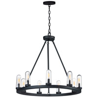 Maxim 30019CDBK Lido 9 Light 30 inch Black Outdoor Chandelier