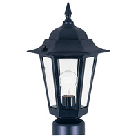 Maxim Lighting Builder Cast 1 Light Outdoor Pole/Post Lantern in Black 3001CLBK