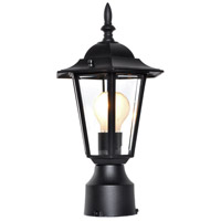 Maxim Lighting Builder Cast 1 Light Outdoor Pole/Post Lantern in Black 3001CLBK alternative photo thumbnail