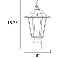Maxim Lighting Builder Cast 1 Light Outdoor Pole/Post Lantern in White 3001CLWT alternative photo thumbnail