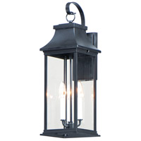 Maxim 30024CLBK Vicksburg 3 Light 24 inch Black Outdoor Wall Mount