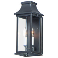 Maxim 30025CLBK Vicksburg 2 Light 16 inch Black Outdoor Wall Mount