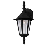 Maxim Lighting Builder Cast 1 Light Outdoor Wall Mount in Black 3002CLBK