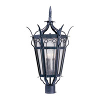 Maxim Lighting Cathedral 3 Light Outdoor Pole/Post Lantern in Country Forge 30040CDCF
