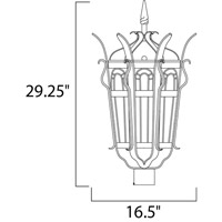 Maxim Lighting Cathedral 3 Light Outdoor Pole/Post Lantern in Country Forge 30040CDCF alternative photo thumbnail