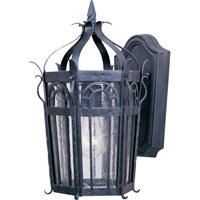 Cathedral 1 Light 15 inch Country Forge Outdoor Wall Mount