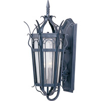 Cathedral 3 Light 27 inch Country Forge Outdoor Wall Mount
