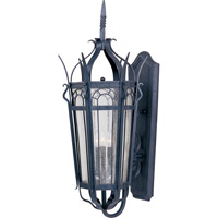 Cathedral 3 Light 37 inch Country Forge Outdoor Wall Mount