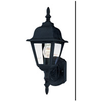 Maxim Lighting Builder Cast 1 Light Outdoor Wall Mount in Black 3005CLBK