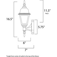 Maxim Lighting Builder Cast 1 Light Outdoor Wall Mount in Country Stone 3005CLCS alternative photo thumbnail