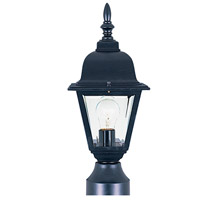 Maxim 3006CLBK Builder Cast 1 Light 16 inch Black Outdoor Pole/Post Lantern