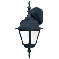 Maxim Lighting Builder Cast 1 Light Outdoor Wall Mount in Black 3007CLBK photo thumbnail