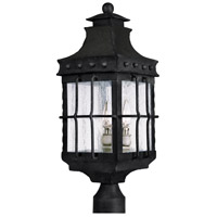 Nantucket 3 Light 23 inch Country Forge Outdoor Pole/Post Lantern