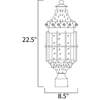 Maxim Lighting Nantucket 3 Light Outdoor Pole/Post Lantern in Country Forge 30080CDCF alternative photo thumbnail