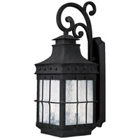 Nantucket 3 Light 23 inch Country Forge Outdoor Wall Mount
