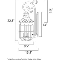 Maxim Lighting Nantucket 3 Light Outdoor Wall Mount in Country Forge 30084CDCF alternative photo thumbnail