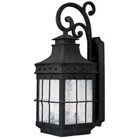 Nantucket 4 Light 32 inch Country Forge Outdoor Wall Mount