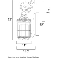 Maxim Lighting Nantucket 4 Light Outdoor Wall Mount in Country Forge 30085CDCF alternative photo thumbnail