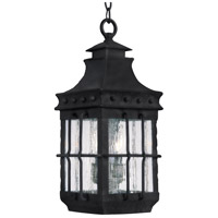 Nantucket 3 Light 9 inch Country Forge Outdoor Hanging Lantern